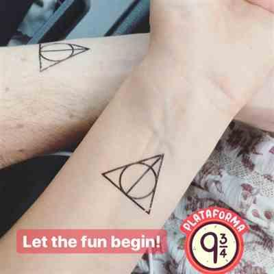 Alena S. verified customer review of Deathly Hallows Temporary Tattoo (Set of 3)