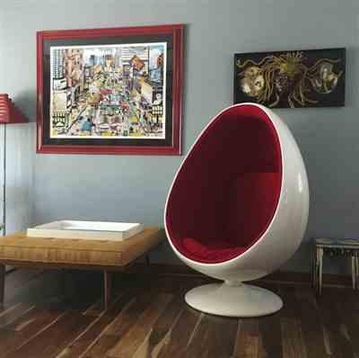 Katie S. verified customer review of Easter Egg Chair, Red