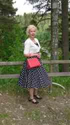 Maarit J. verified customer review of Dolores Doll Black Polka Dot 50-luvun mekko