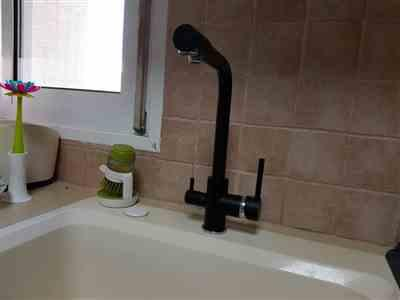 Kailee Nolan verified customer review of Deck Mounted 360 Degree Rotation Kitchen Faucet