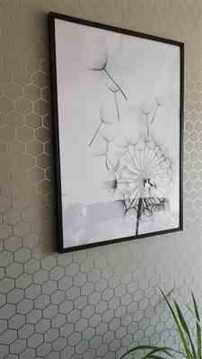 Lonnie Hudson verified customer review of Black & White Dandelion Plant Wall Canvas Art