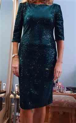 Pretty Kitty Fashion Emerald Green Velour Sequin Wiggle Dress Review