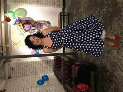 Holly Sprake-Hill verified customer review of Navy Blue and White Vintage 1950s Polka Dot Swing Dress